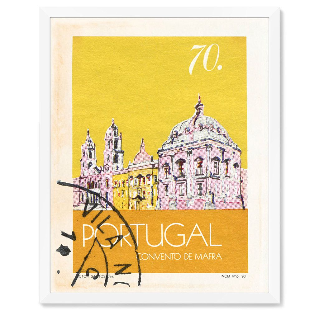 Postage Stamp Art Portugal Architectural Art Print Latin Art Spanish ...