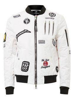 shop best sellers purchase cheap performance sportswear Blouson style MA1 blanc matelassé avec écusson par The New ...