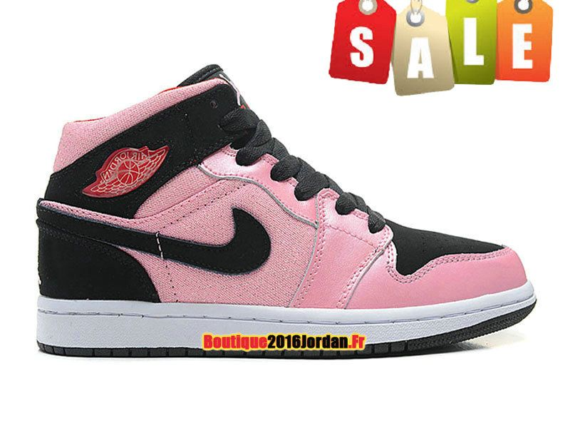 info pour 2b088 665da Air Jordan I/AJ1 Mid (GS) - Nike Air Jordan Baskets Pas Cher ...