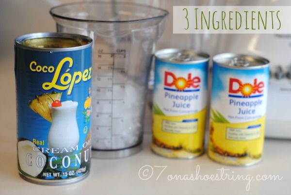 3 ingredient non alcoholic pina colada recipe non for Mixed drink recipes by ingredient