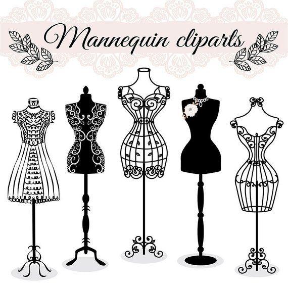 Premium Vector Hand Draw Mannequin Fashion Dress Forms Clipart