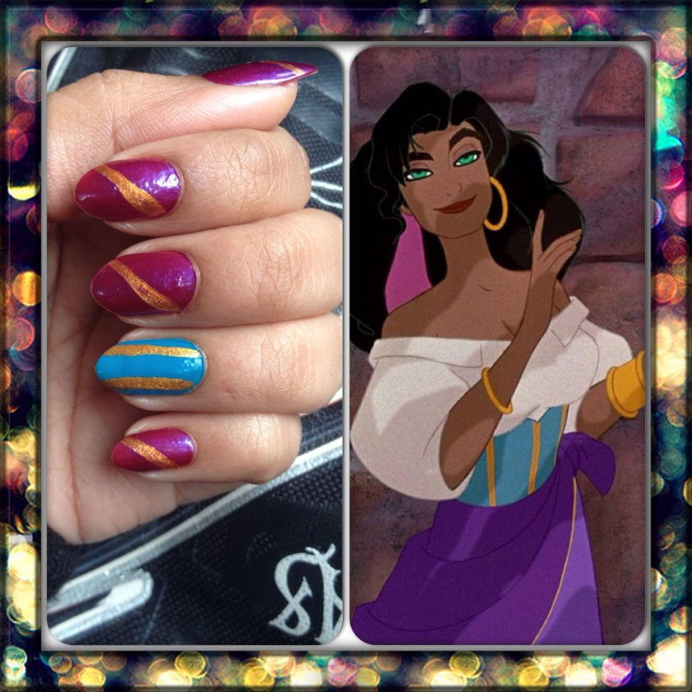 Esmeralda inspired nail art. Disney\'s the Hunchback of Notre Dame ...