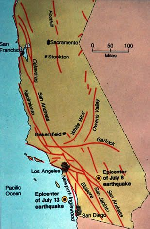 California Fault Line Map on