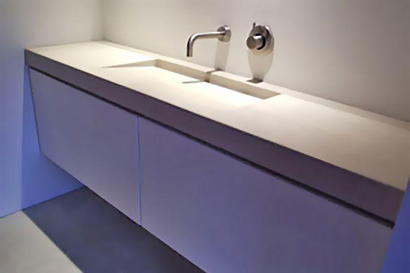 Badkamermeubel beton wastafels badkamer wastafel