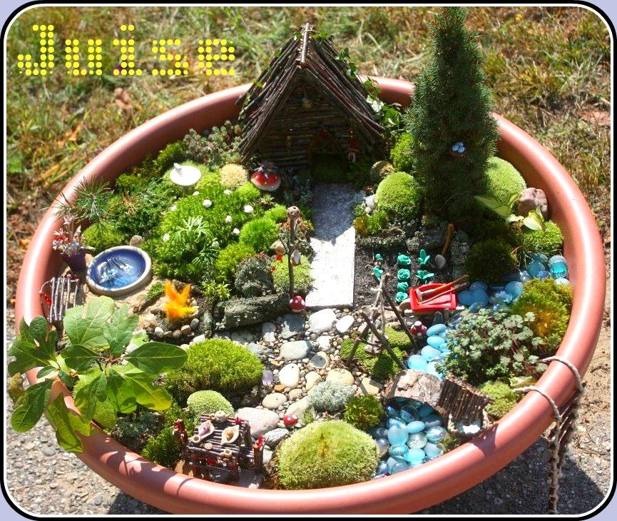 Make A Fairy Garden In Art Class Fill The Container Ice Bix Flower Pot Old Kithen Pots