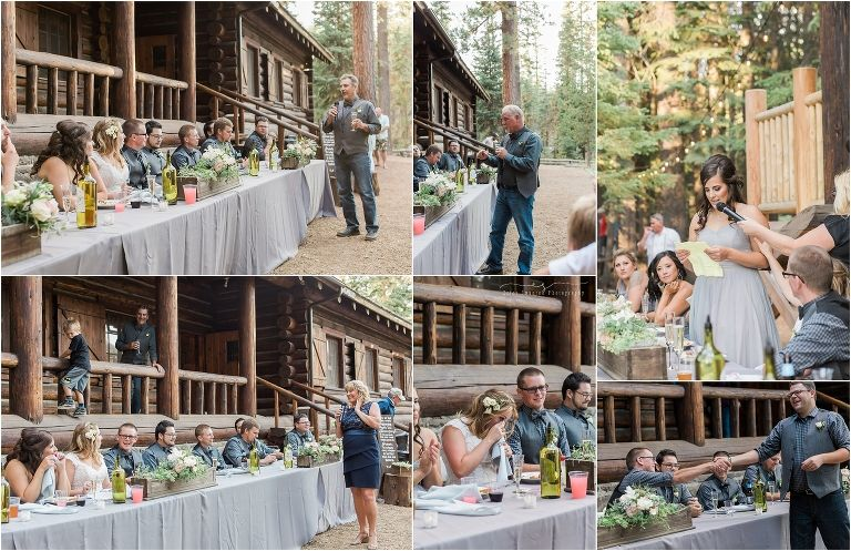 An outdoor wedding reception at this gorgeous rustic ...