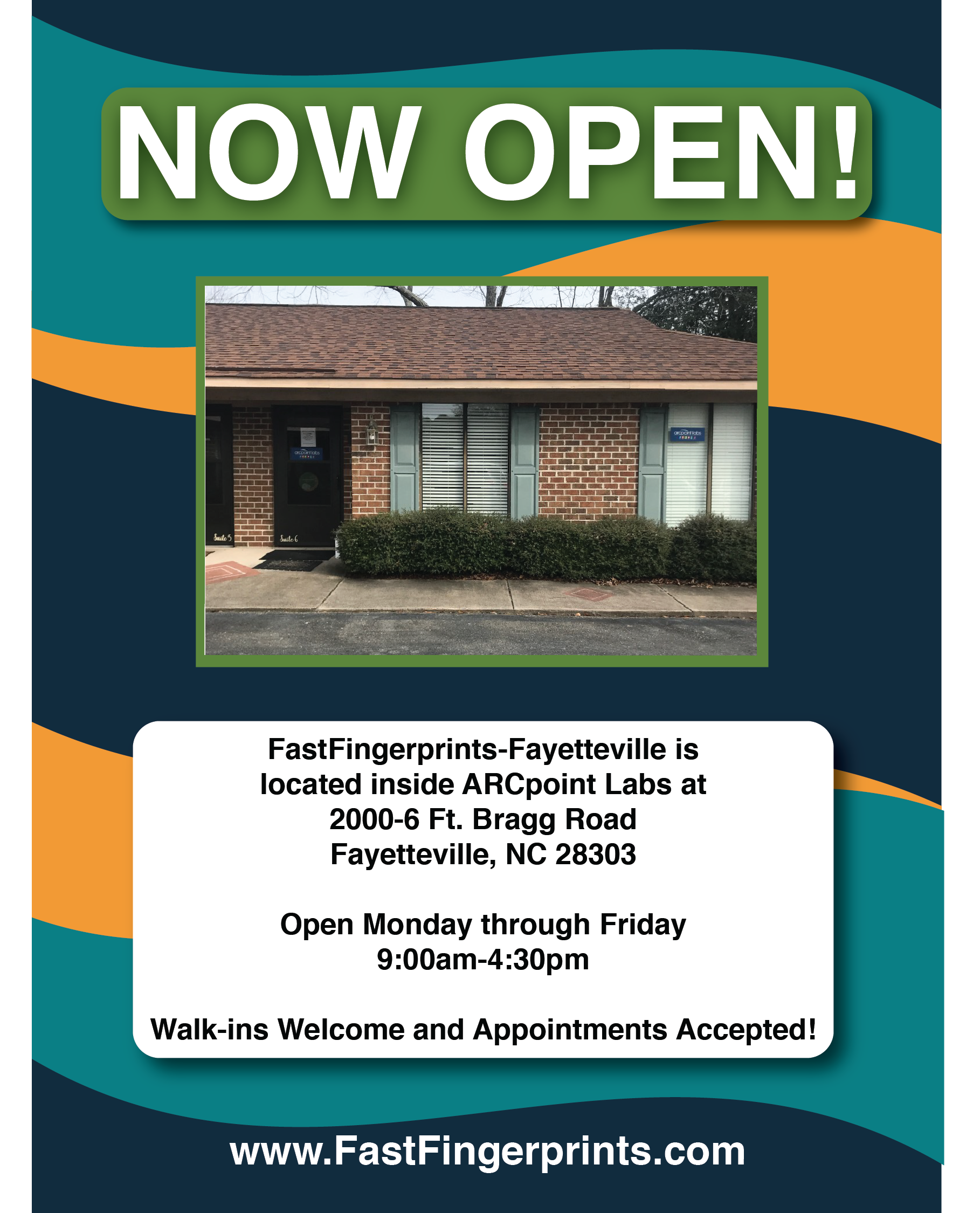 now open fayetteville nc  background check live scan
