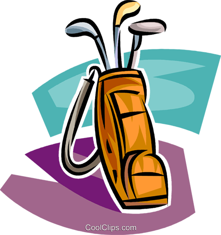 Golf Bag With Clubs Royalty Free Vector Clip Art Illustration Clip Art Illustration Art Golf Bags