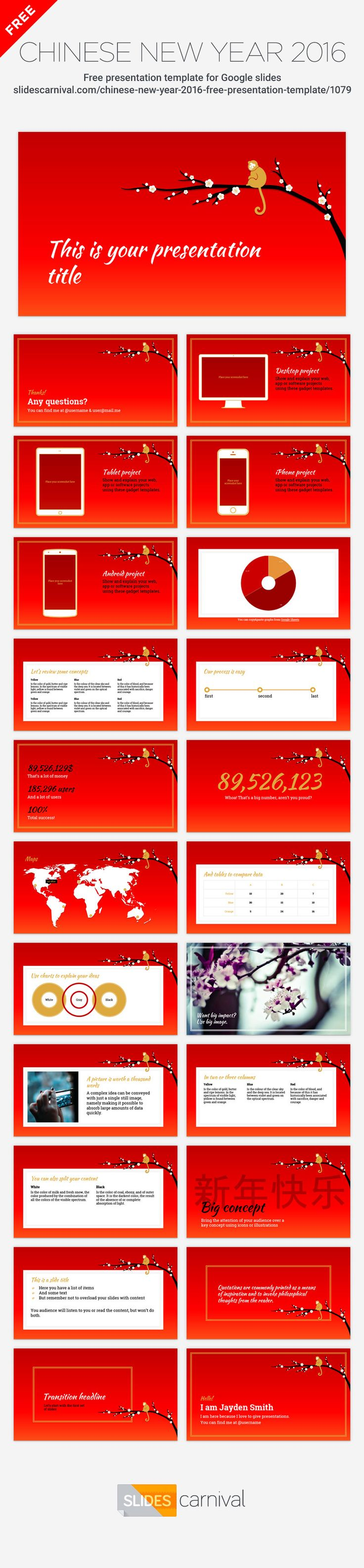 use this free presentation template to celebrate the chinese new, Presentation templates