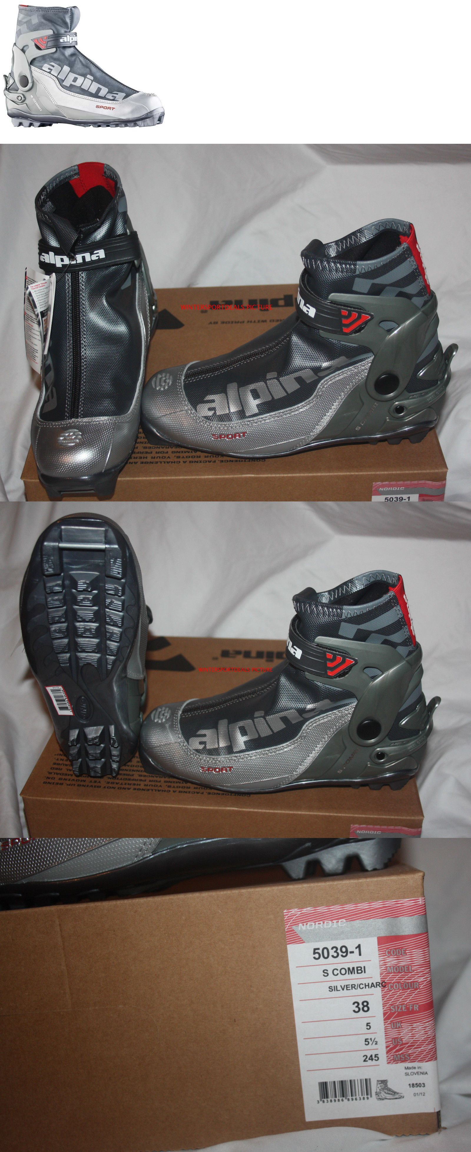 Boots Alpina S Combi Nnn Cross Country Ski Boots Silver Charc - Alpina cross country ski boots