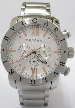 32410bb56d2 Bvlgari Aluminium Stainless Steel White Dial Men s Replica Watch ...