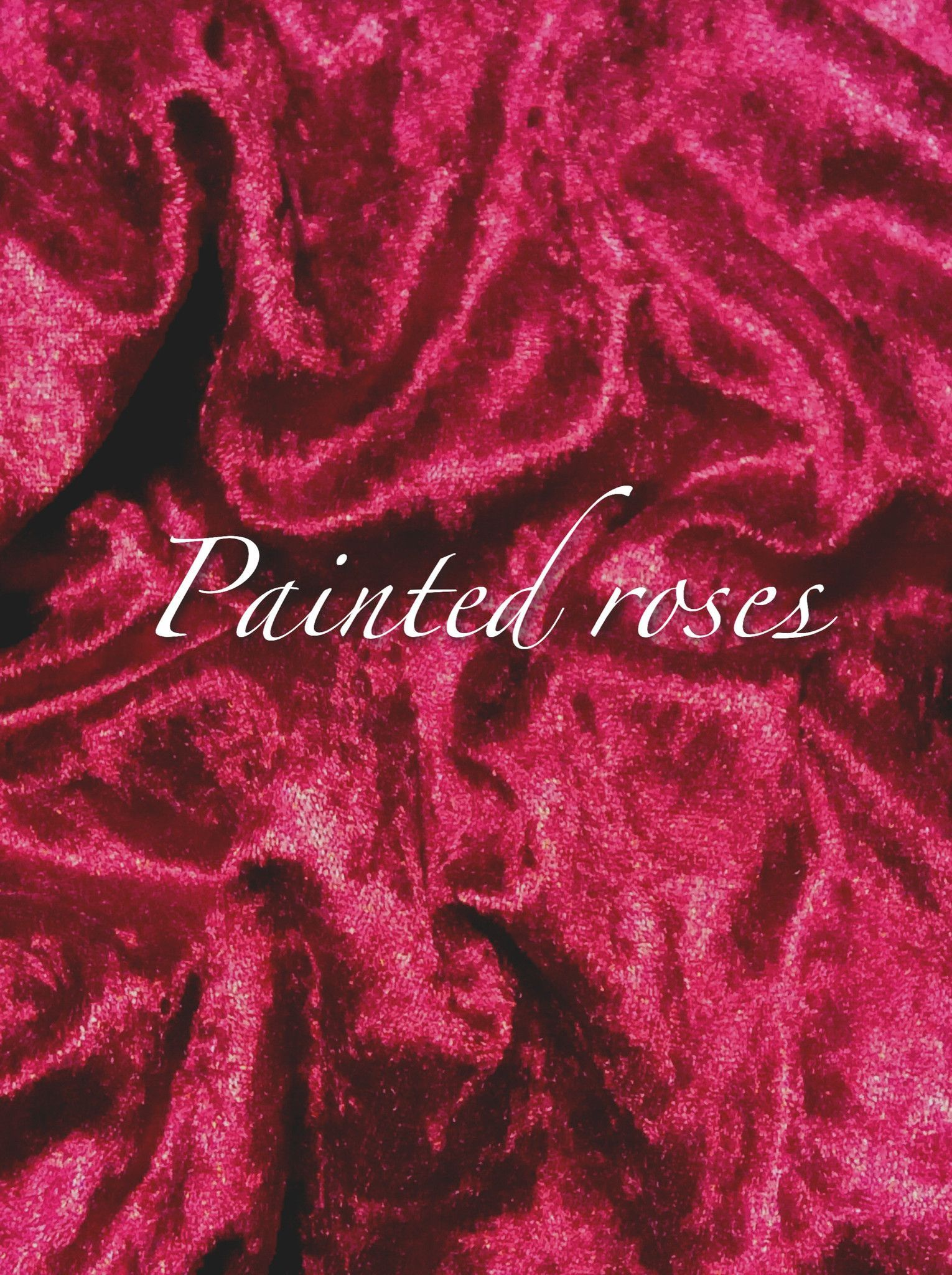 Luxury Crushed Velvet - Painted Roses