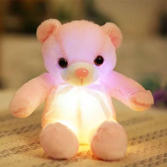 9ee9472880c 32cm Small LED Light Toys Plush Flashing Bear Toy Luminous Pillow Stuffed  Soft Animal Doll