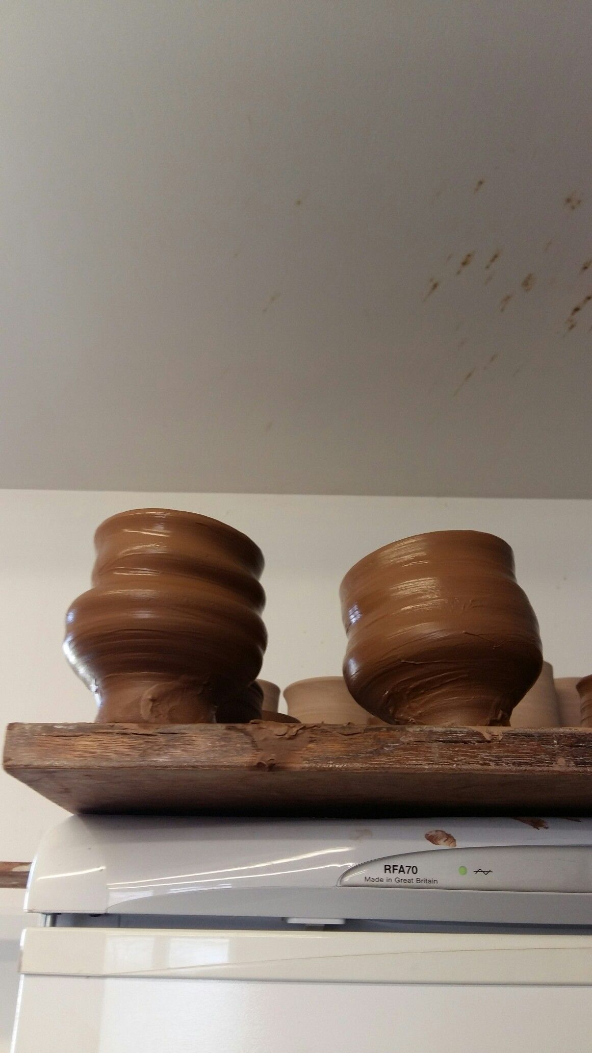 Wabi sabi tea bowls in progress by Johann Rohl