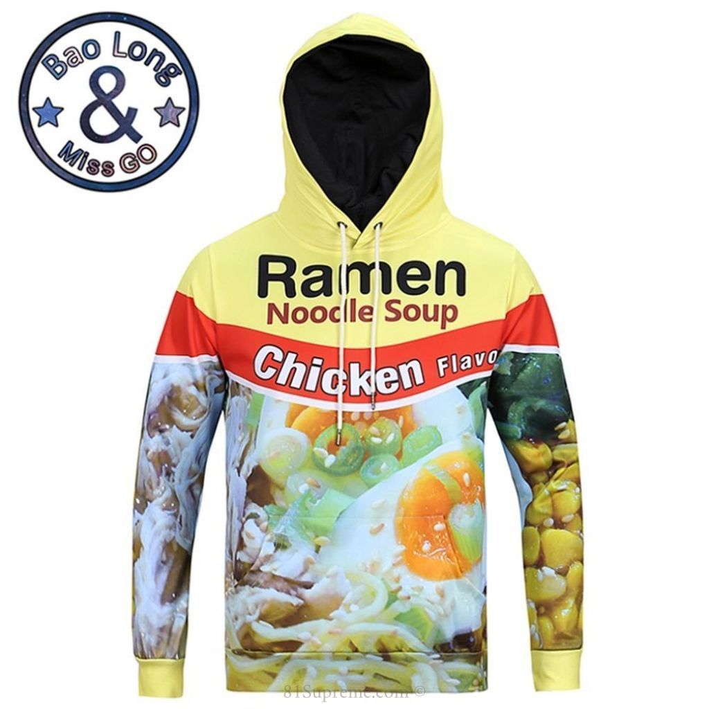 New Fashion Women//Men Ramen Noodle Soup 3D Print Casual Hoodie Sweatshirt