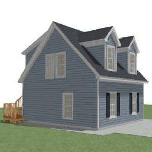 22x24 Detached Garage With Studio Apartment PDF Plan Model DG 01