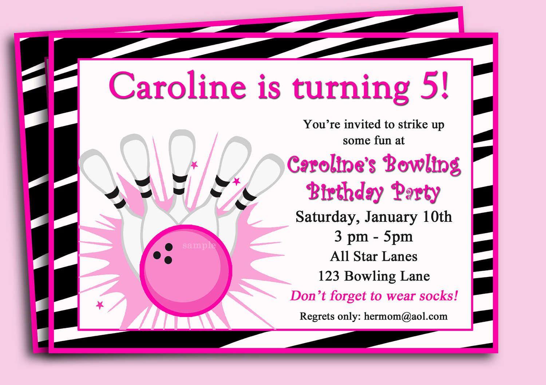 Free printable bowling birthday invitations my birthday free printable bowling birthday invitations stopboris Choice Image
