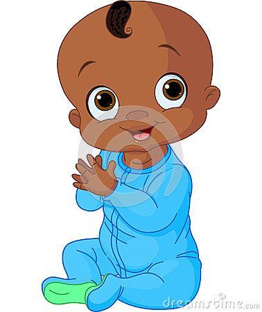 Cute Baby Boy Clapping Hands Baby Boy Art Baby Drawing Black Baby Boys