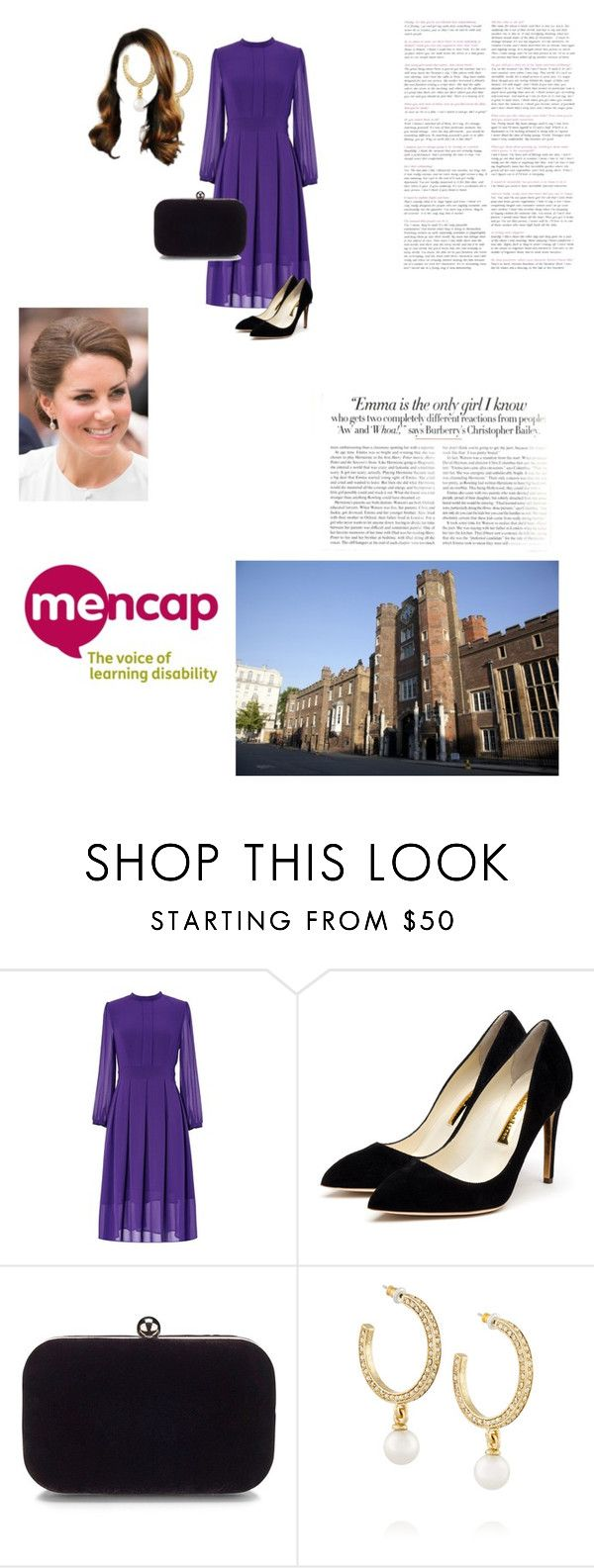 """""""Hold a Lunch for Mencap"""" by theduchessroyal ❤ liked on Polyvore featuring Rupert Sanderson, Oscar de la Renta and Vanity Fair"""