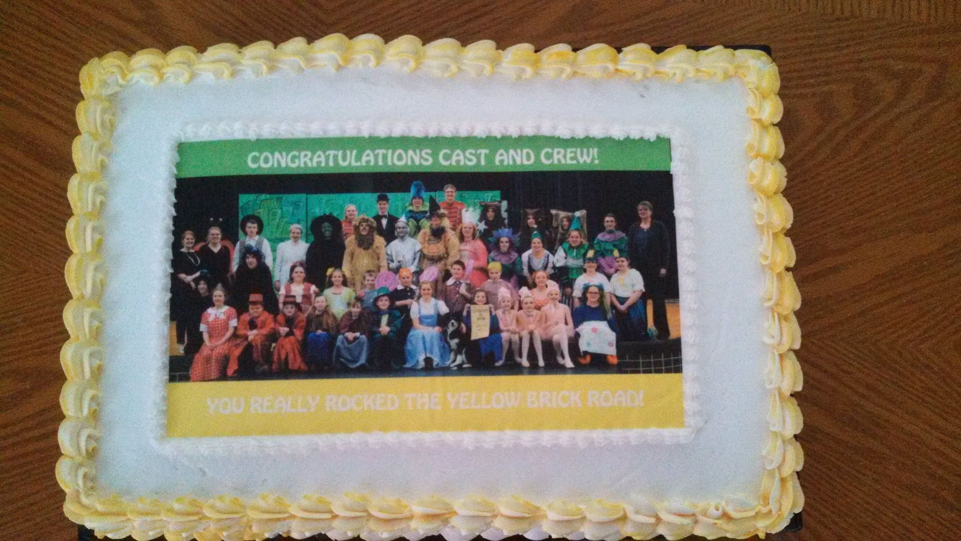 Wizard of Oz cast picture cake