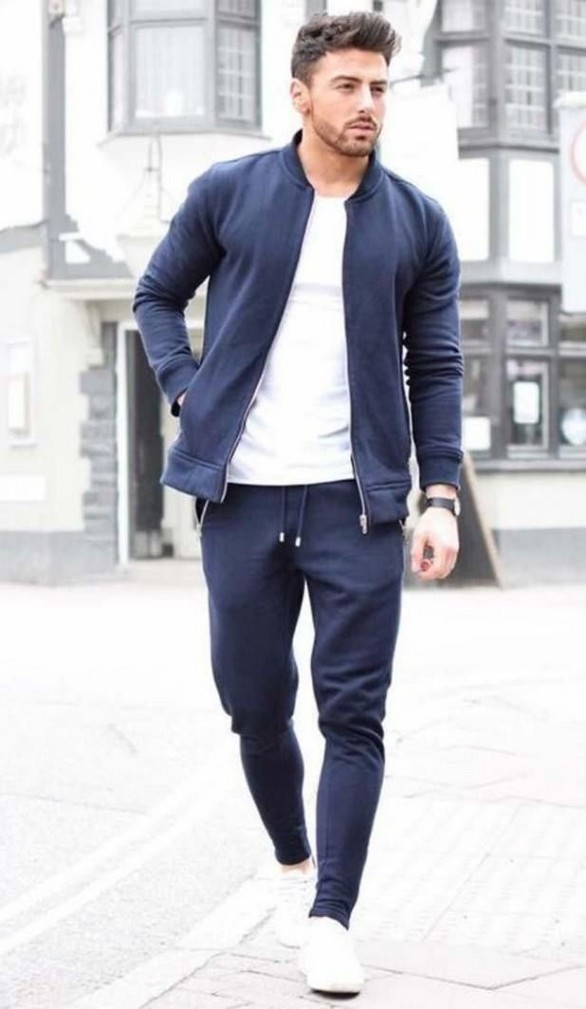 Sporty outfits men, Athleisure men