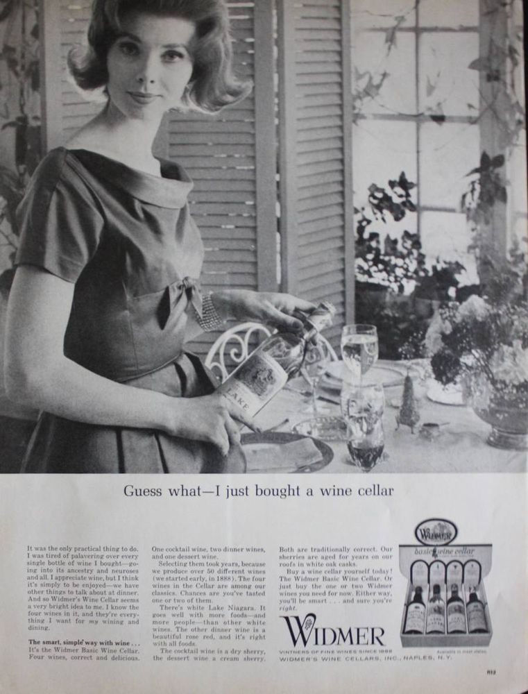 1962 Widmer Wine Cellars Naples NY Pretty Housewife Photo Print Ad #Widmer  sc 1 st  Pinterest & 1962 Widmer Wine Cellars Naples NY Pretty Housewife Photo Print Ad ...