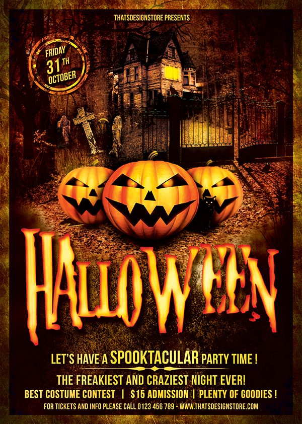 Halloween Flyer Template Psd Design for photoshop Flyer template - event flyer templates
