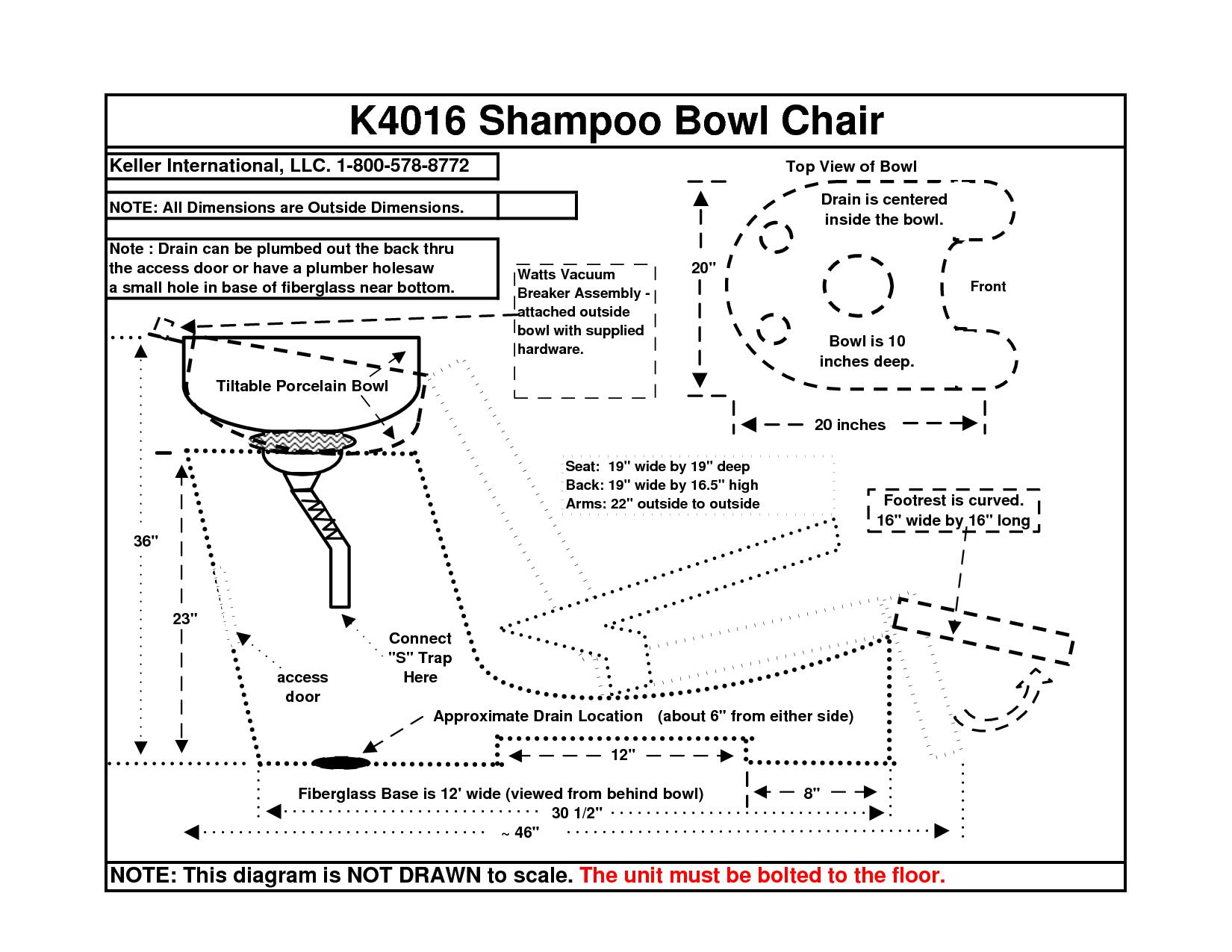 Shampoo And Bowl Chair