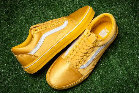 69461a8e76c99e Vans Satin Old Skool Yellow Golden Skate Vans For Sale  Vans