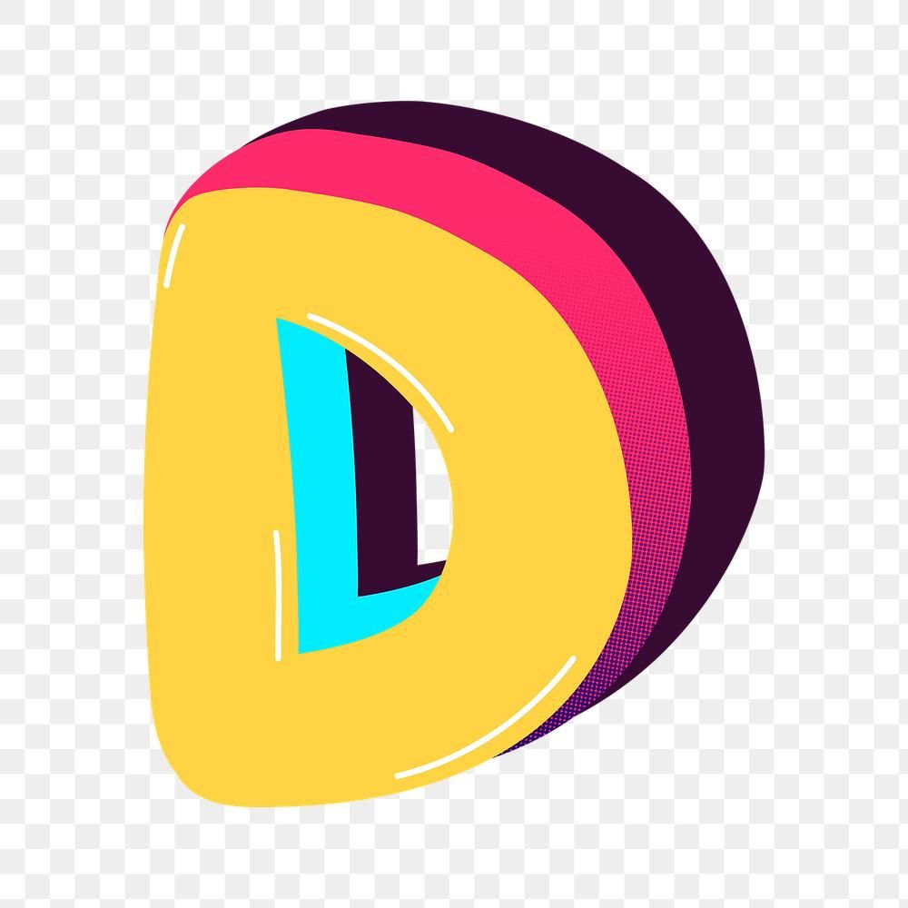 Letter D Png Yellow Funky Stylized Typography Free Image By Rawpixel Com Bird Letter D Lettering Typography