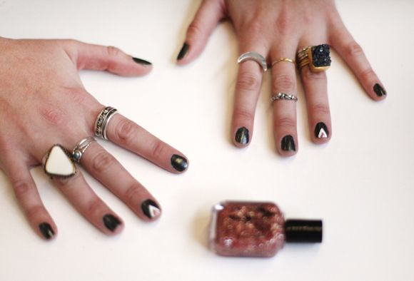 Scotch Tape Nail Art 3 Easy Designs Scotch Tape Nails Tape Nail