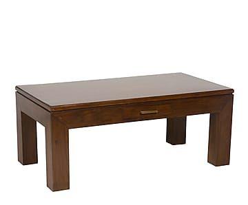 Mesa de centro de madera de teca teca con cajón II - marrón
