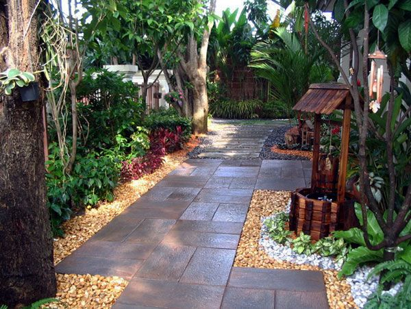 beautiful and nature landscape ideas for small gardens design with stone step and amazing small garden design ideas - Home And Garden Designs