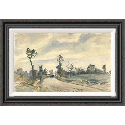 Global Gallery 'Louveciennes, Route de Saint-Germain' by Camille Pissarro Framed Painting Print Size: