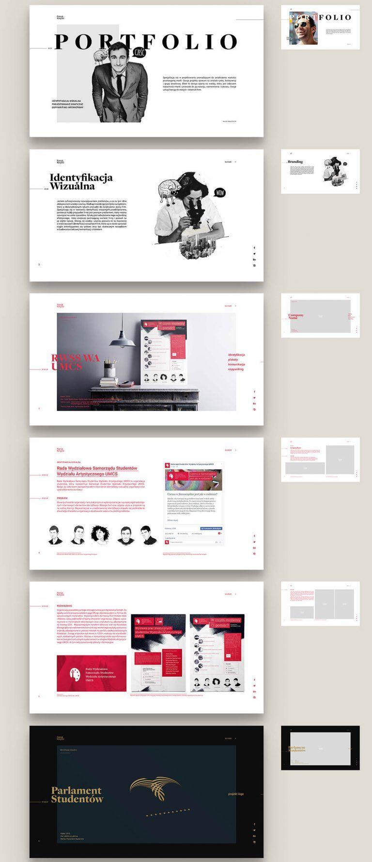Free minimal portfolio brochure portfolio design