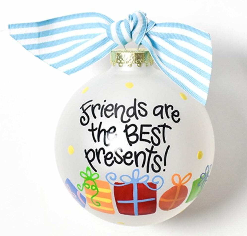 Photo of Coton Colors Friends Are The Best Presents Glass Ornament
