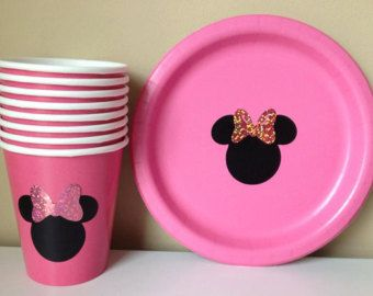 12 Minnie Mouse Polka Dot Cups party decoration por CriCriDecor
