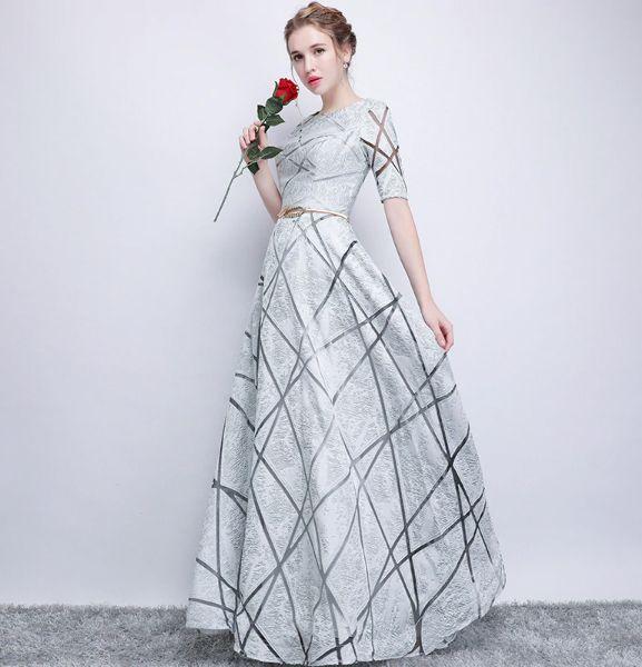 Simple Wedding Dress For Godmother: BH133 Simple Half Sleeve A Line Bridesmaid Dresses