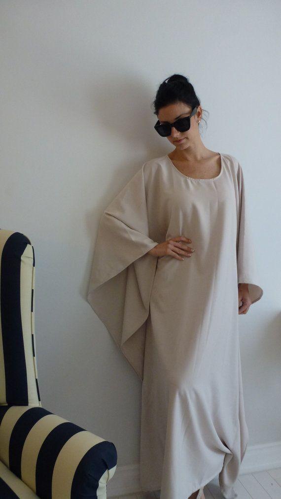 dd41f80e off-white Asymmetrical Tunic Dress / Kaftan / Off by StyleByKeren ...