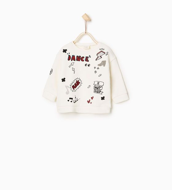 Imagen 1 De Sudadera Estampación Parches De Zara Ropa Para Niñas Crear Ropa Ropa