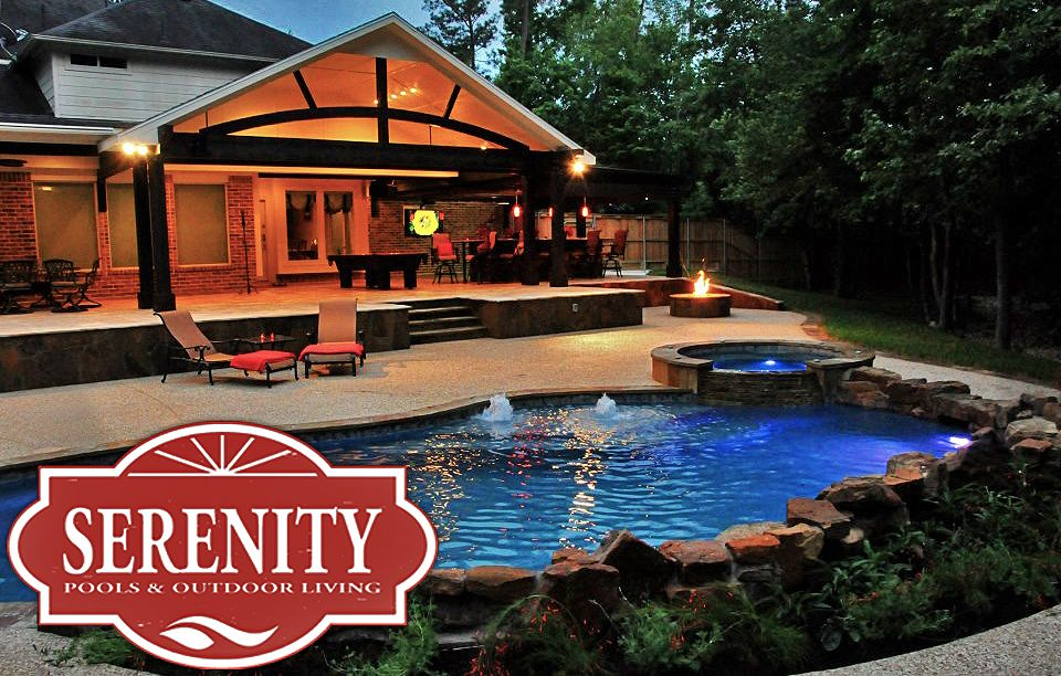 Backyard Free Form Pool With Outdoor Kitchen Outdoor Kitchen