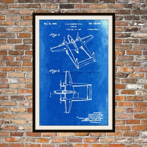 Various sizes available howard hughes patents my new etsy shop various sizes available howard hughes patents my new etsy shop blueprint art of malvernweather Image collections