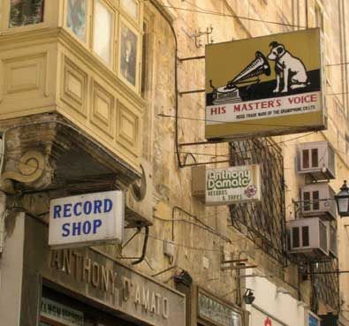 Loving the ol' Nipper sign above the record shop