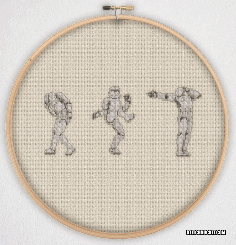 Dancing Stormtroopers Star Wars Cross Stitch Pattern