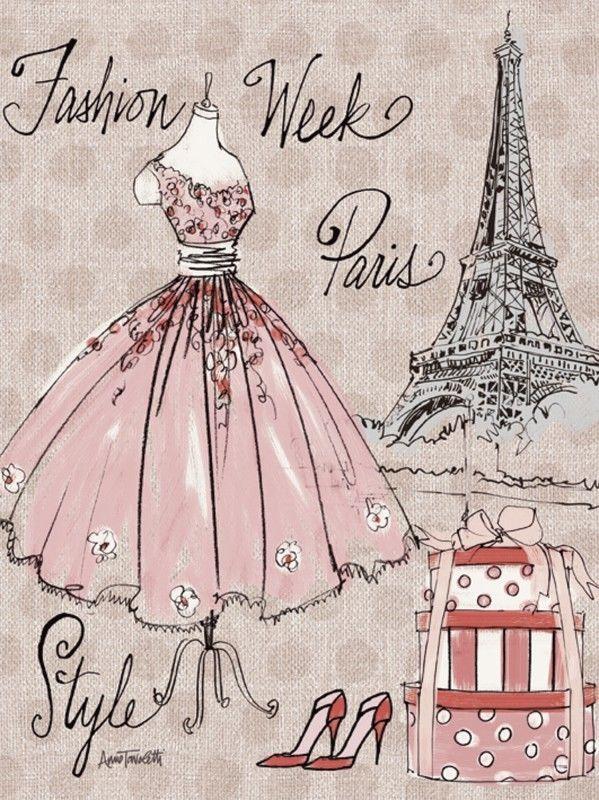Dessin de mode. Anne Tavoletti pour la Fashion week de Paris.