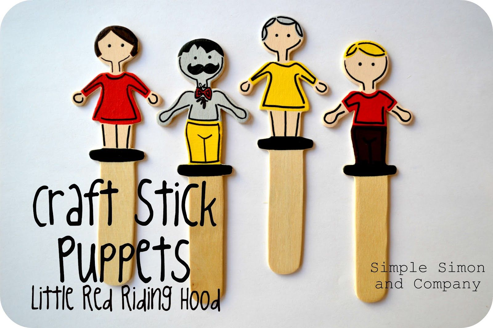 Craft Stick Puppets Perfect For Something On A Stick Day