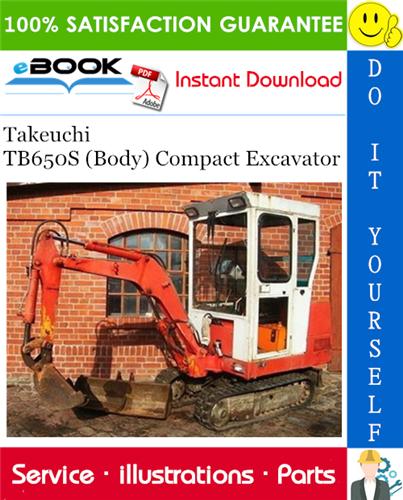 Takeuchi Tb650s Body Compact Excavator Parts Manual Excavator Parts Excavator Manual