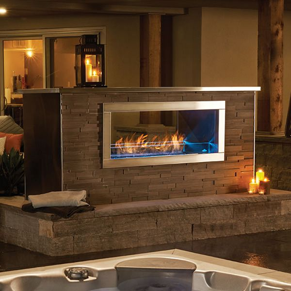 See Through Outdoor Fireplaces in 2020 | Wood pergola diy ...
