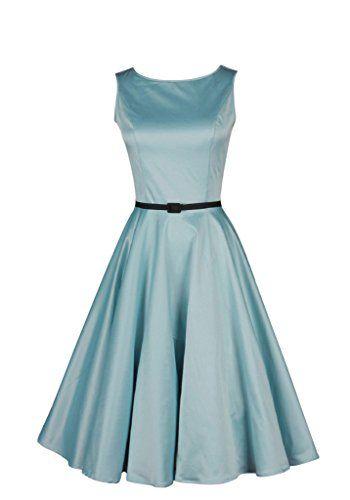 Ruichen Women's 50S Vintage Hepburn Style Boat Neck Plain Prom Dress Blue S Ruichen http://www.amazon.com/dp/B00P0W7C04/ref=cm_sw_r_pi_dp_kmeSub1DGKDRB
