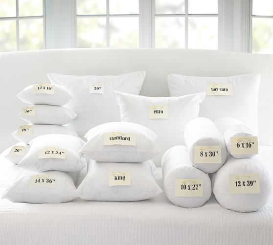 "Pottery Barn Pillow Inserts Cool Freshness Assured™ Feather Pillow Insert 22"" Sq Feather Pillows Decorating Design"
